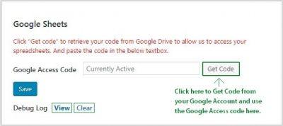 Google Access code