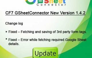 GsheetConnector Plugin update 1.4.2