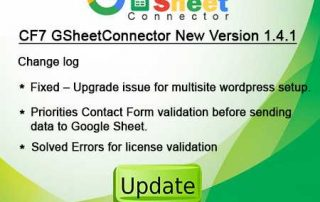 GsheetConnector Plugin update 1.4.1