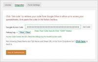 Wpforms Google Access Code