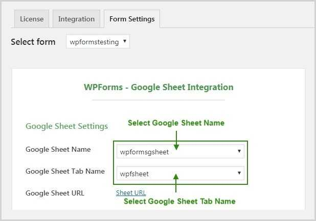 Google Sheet Tab Configuration 1