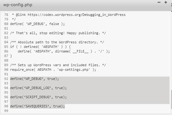How to check debug log 4