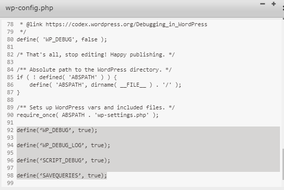 debug add code – Google Sheet Connector